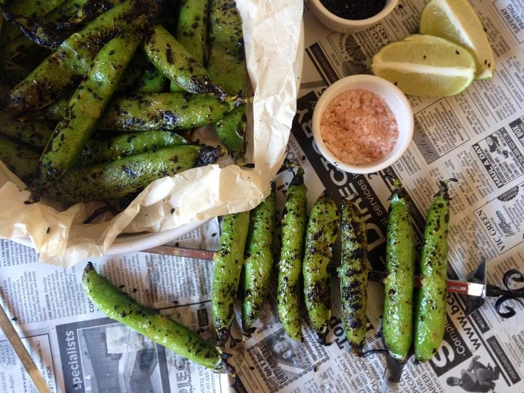 Grilled English Peas Recipes — Dishmaps