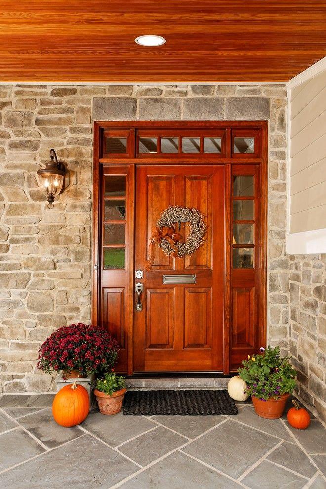 Wood door and half sidelights dream home pinterest for Wood doors with sidelights