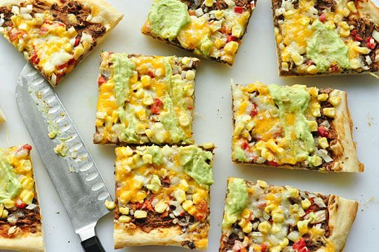 ... : Southwestern Pizza with Black Beans and Corn — Vegetarian