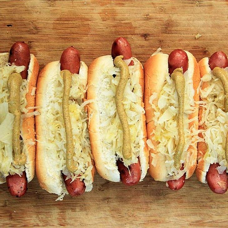 Grilled Hot Dogs with Sauerkraut | Yummy In My Tummy | Pinterest