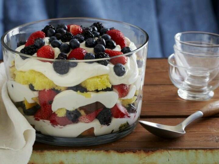 Summer Berries and Cream Trifle | Beauty & Beyond | Pinterest