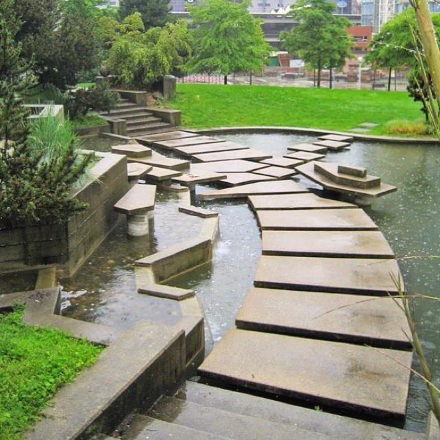 Pond stepping stones inspirational ponds pinterest for Garden pond stones