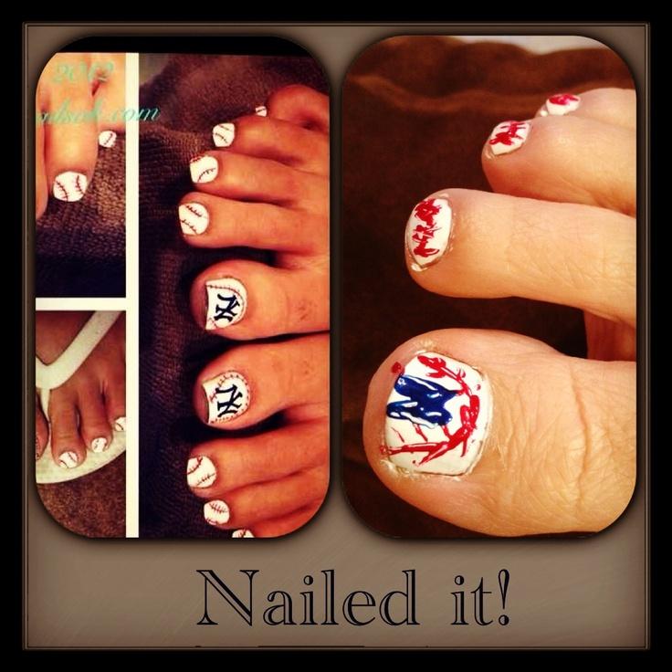 Yankees nail art nailed it nail art pinterest
