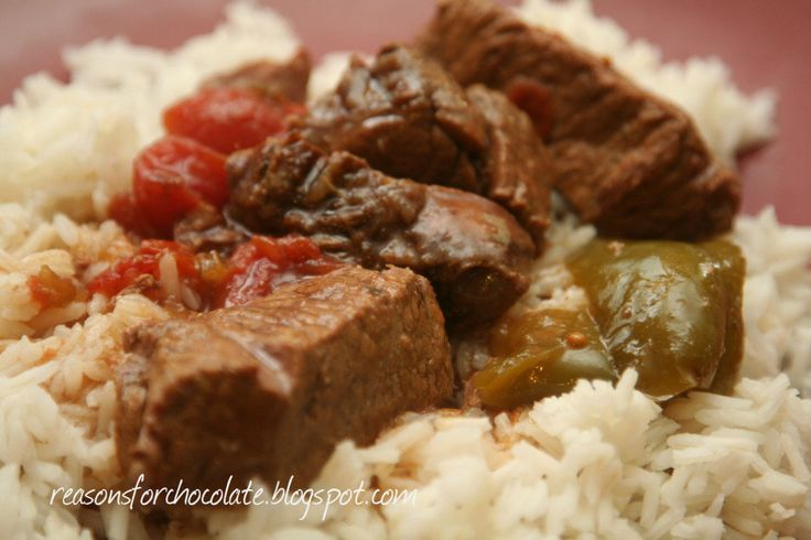 Reasons for Chocolate: Slow Cooker Pepper Steak