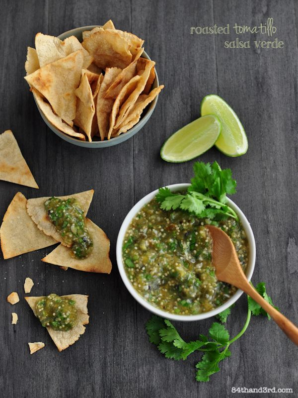 Roasted Tomatillo Salsa Verde | Mexican Food | Pinterest