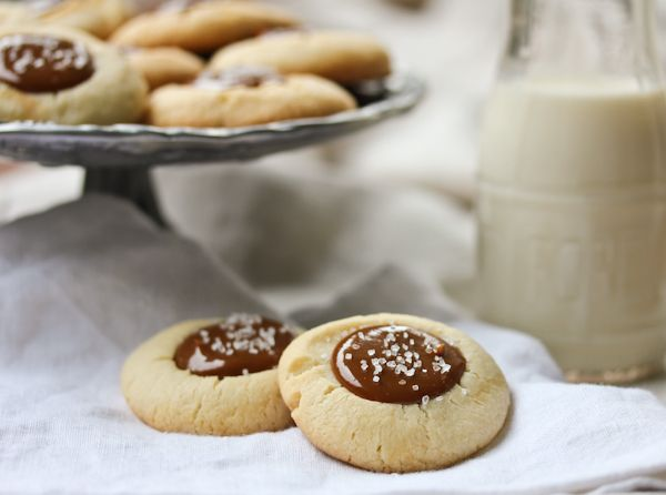 Dulce de Leche and Nutella Thumbprints with Sea Salt