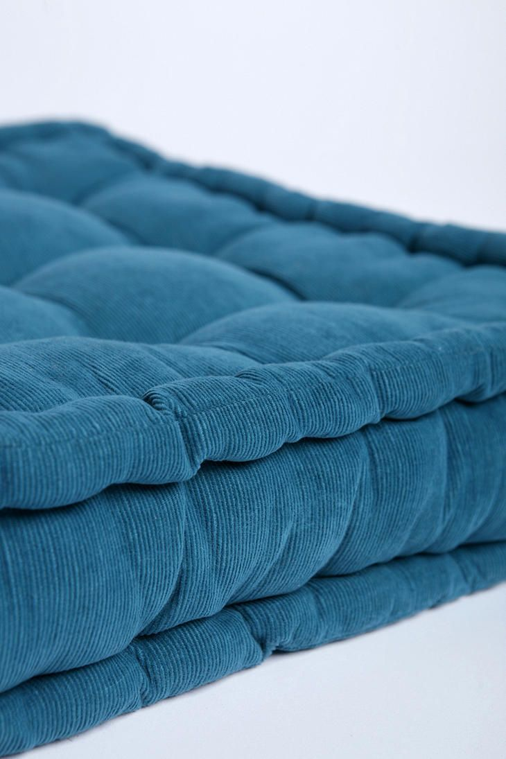 Floor Cushions And Pillows : Tufted Corduroy Floor Pillow