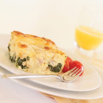Ham, Cheese, and Spinach Strata | Recipes - breakfast | Pinterest
