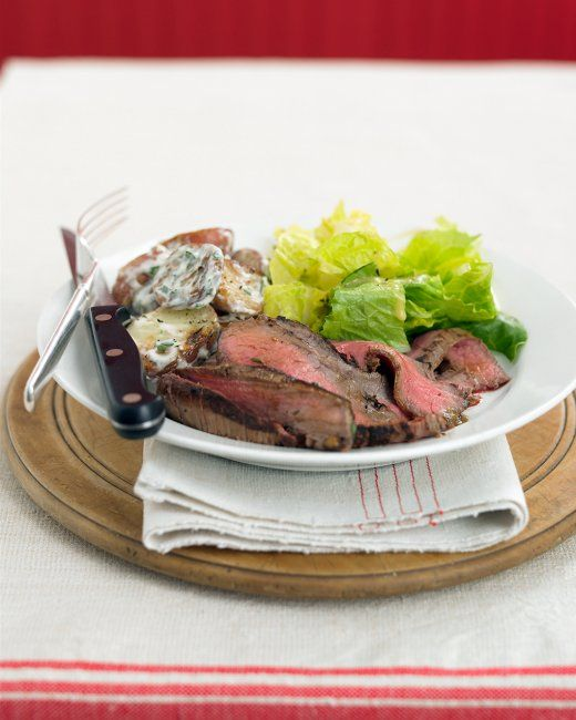 Grilled Steak with Potato Salad | Recipe