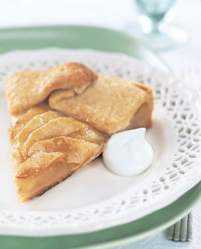 Apple Crostata with Crystallized Ginger Recipe at Epicurious.com