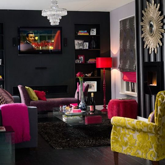 Modern glamour living room home decor pinterest for Glam living room ideas