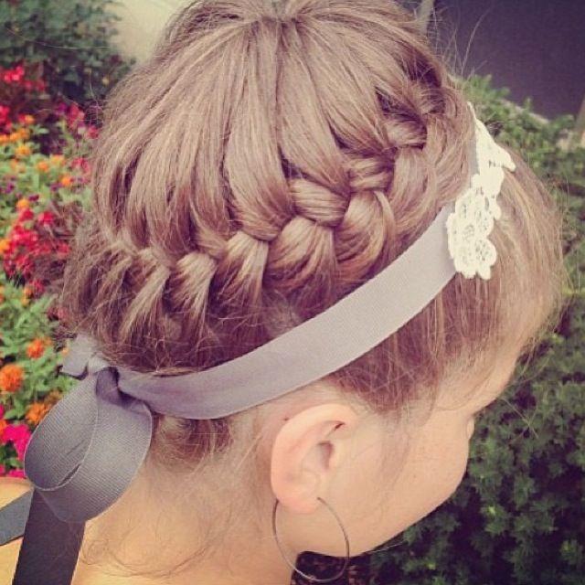 Фото прически для маленьких девочек на средние волосы