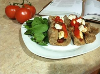 Gluten Free French Baguette with chicken ricotta meatballs, fresh ...