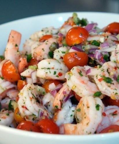 Shrimp and Caper Salad   food & Recipes   Pinterest