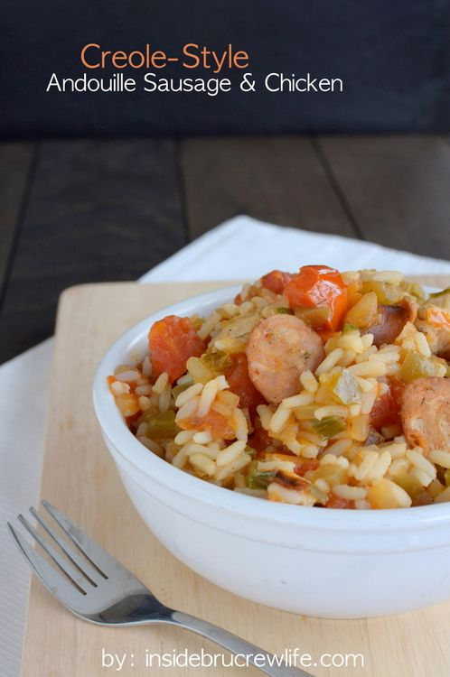Creole Style Andouille Sausage and Chicken - easy to prepare creole ...