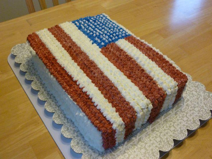 patriotic sheet cake