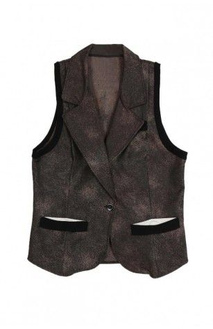 Washed Denim Vest - Fashion for women by the urban apparel