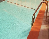 Swimming Pool Architectural Landscape 10x10 Mid Century.  Lucy Snowe Photography.