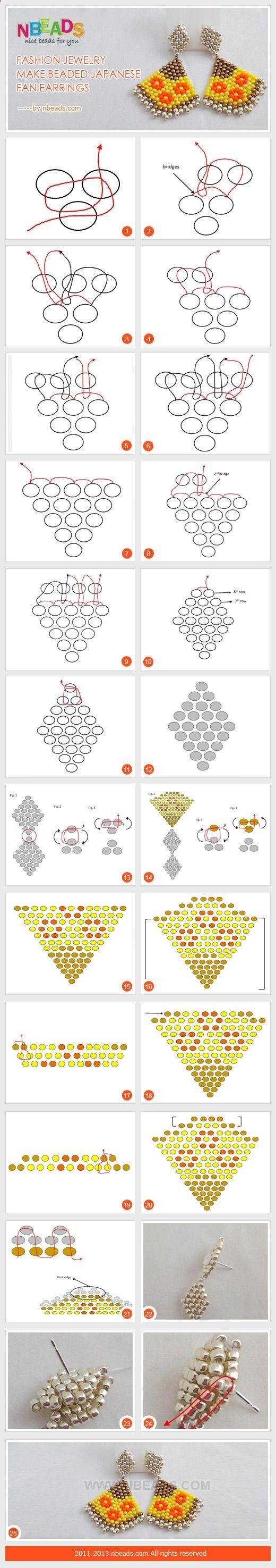 Схема плетения бисером кирпичный стежок