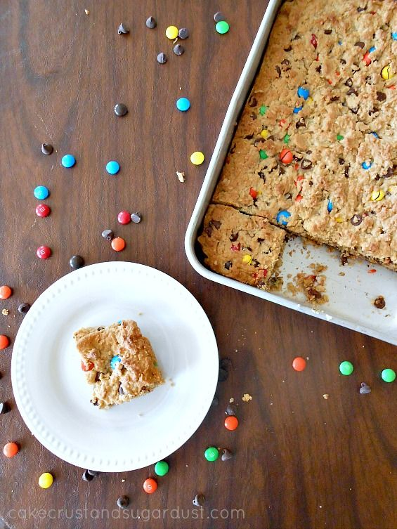 monster monster cookie bars...peanut butter, oats, chocolate chips ...