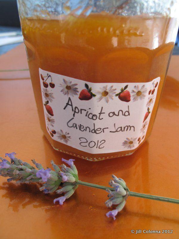 lavender-apricot-jam-pot | NOMS - sauces and preserves | Pinterest
