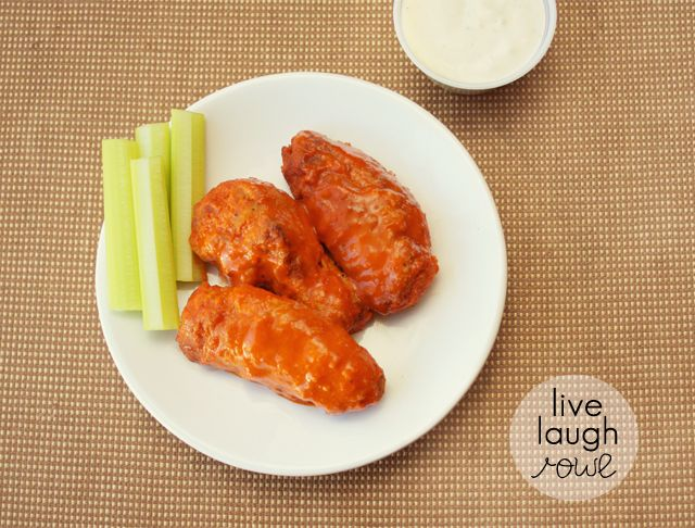 Baked Buffalo Wings with LiveLaughRowe.com #wings #recipe #biggame