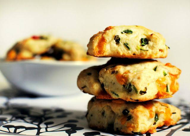 Jalapeno, chive, and cheddar biscuits | Yum | Pinterest