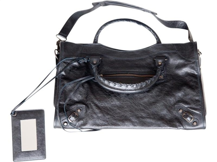 BALENCIAGA -  Black City Handbag