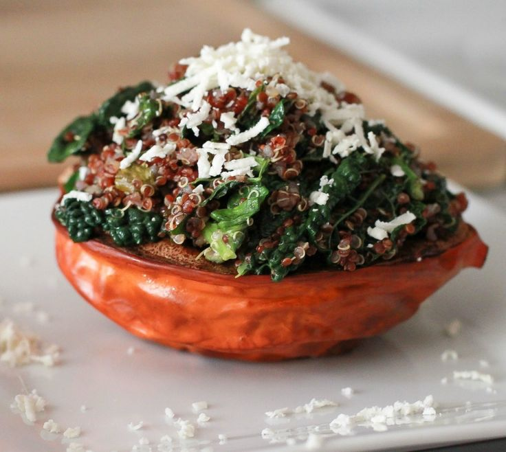 Vegetarian Stuffed acorn squash- eat clean!- I made this tonight with ...