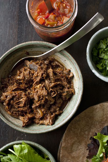 ancho braised beef tacos | Meats | Pinterest