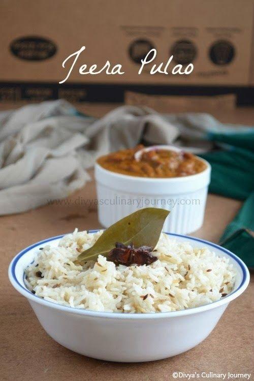 Jeera Pulao- Simple cumin flavored rice.