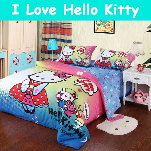 hello kitty queen comforter set hello kitty bedding set cute cartoon