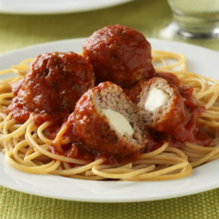 Mozzarella Stuffed Homemade Meatballs Recipes — Dishmaps