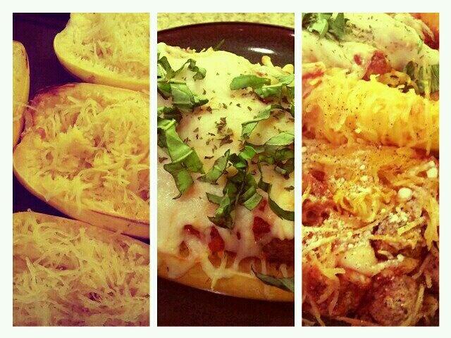 Baked Spaghetti Squash and Meatballs! | Food | Pinterest