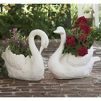 Swan Planters Garden Accessories Pinterest