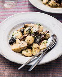 Potato Gnocchi with Mushroom Ragout - use GF gnocchi. Added some feta ...