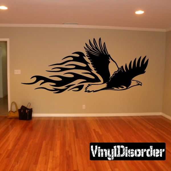 Eagle wall decal vinyl decal car decal sm007 for Eagle wall mural