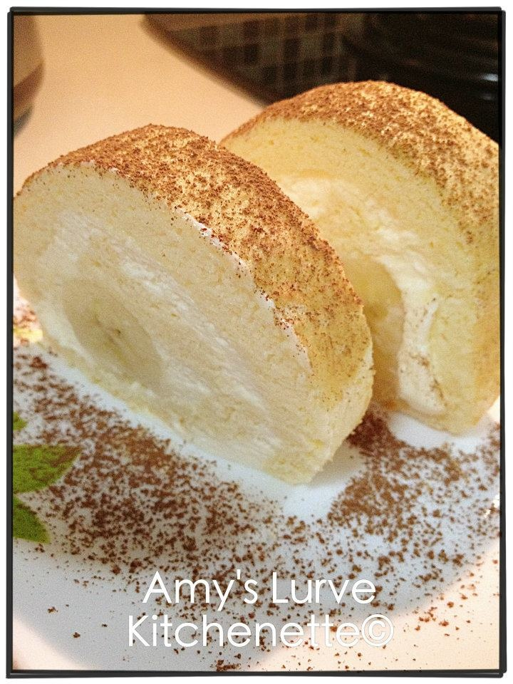 Banana Cream Cheese Swiss Roll by AmySwiss Roll Cake Ingredients: 4 ...