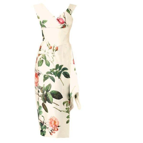 VIVIENNE WESTWOOD GOLD LABEL Prestige floral-print silk satin dress found on Polyvore