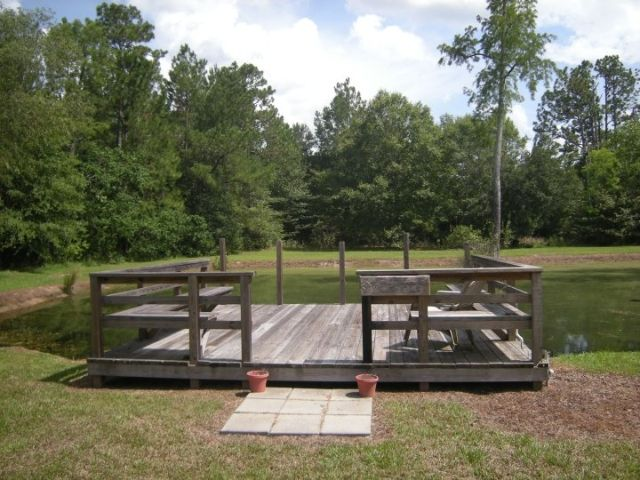 Dock idea for pond let 39 s take it outside pinterest for Pond pier plans