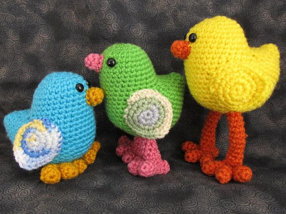 Amigurumi Crochet Bird Patterns : Chicka Chickah Chick Crochet Amigurumi Bird Pattern
