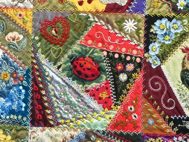 Crazy Quilting Stitches Patterns : crazy quilt stitches Crazy Quilting Pinterest
