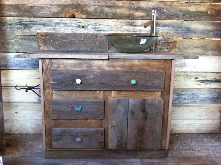 barn wood bathroom sink cabinet for the home pinterest