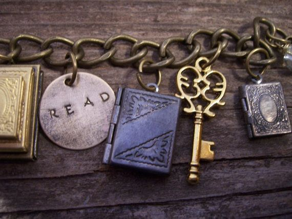 Stack of Books book locket the book lovers by TheMeltonPot