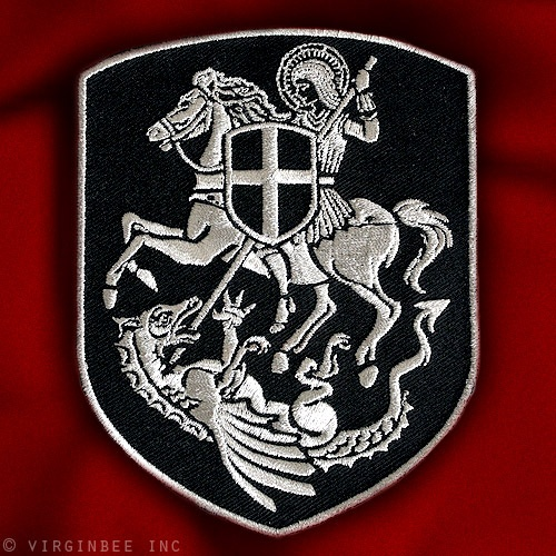 SILVER EMBROIDERY ST.GEORGE PATCH