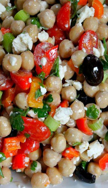 Mediterranean Chickpea Salad   Recipe