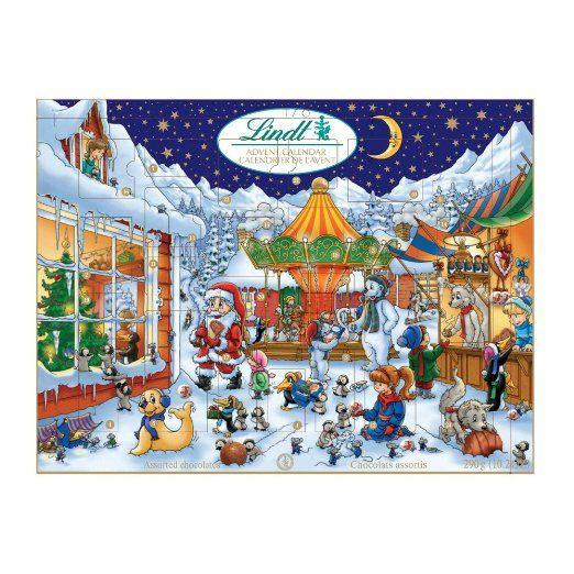 Lindt Chocolate Holiday Advent Calendar, 10.2 Ounce: Amazon.com ...