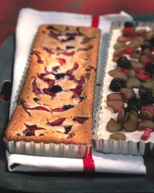 Rhubarb and Blackberry Snack Cake | Recipe