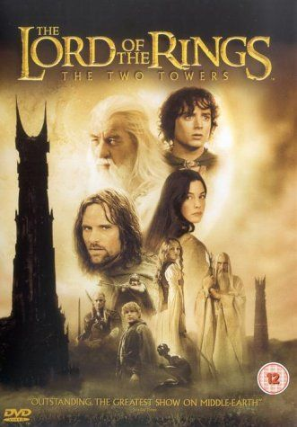 """The Lord of the Rings: The Two Towers (2002) directed by Peter Jackson, based on the novel by J. R. R. Tolkien, starring Elijah Wood, Sean Astin, Ian McKellen, Billy Boyd, Dominic Monaghan, Viggo Mortensen, Liv Tyler, Orlando Bloom, John Rhys-Davies, Andy Serkis, Christopher Lee, Bernard Hill, Miranda Otto and Karl Urban. """"Frodo and Sam edge closer to Mordor with the help of the shifty Gollum, the divided fellowship makes a stand against Sauron's new ally Saruman and his hordes of Isengard."""""""