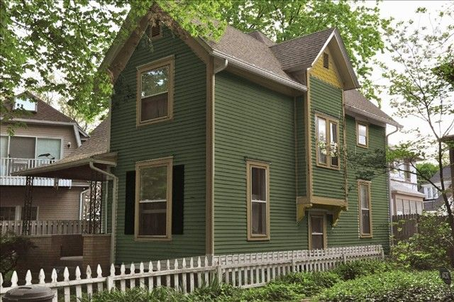 Green exterior paint paint colors pinterest for Green exterior house paint